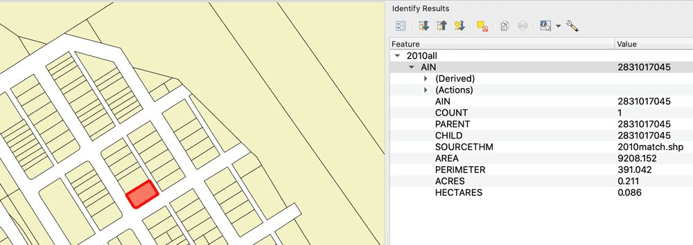 Parcel data is a form of cadastral GIS Data showing the boundaries and attribute information about properties in a given area.