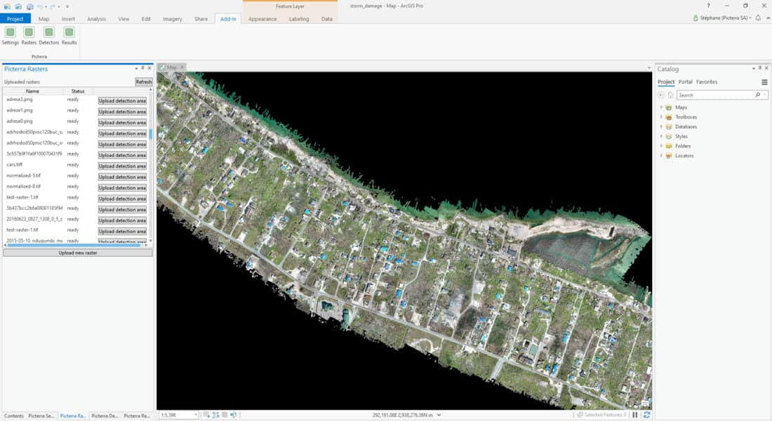 Picterra offers both an ArcGIS and QGIS plugin for using its service within a GIS desktop environment.  Screenshot: Picterra.
