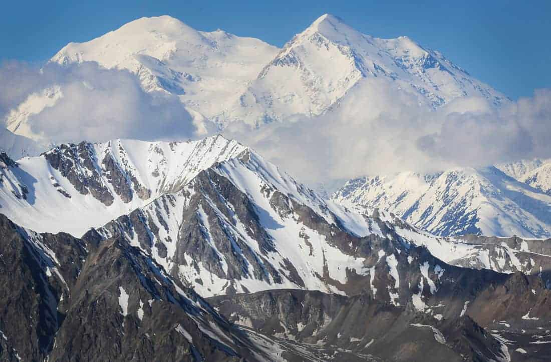 Denali seen from backcountry Unit 13 on June 14, 2019. Photo: NPS / Emily Mesner