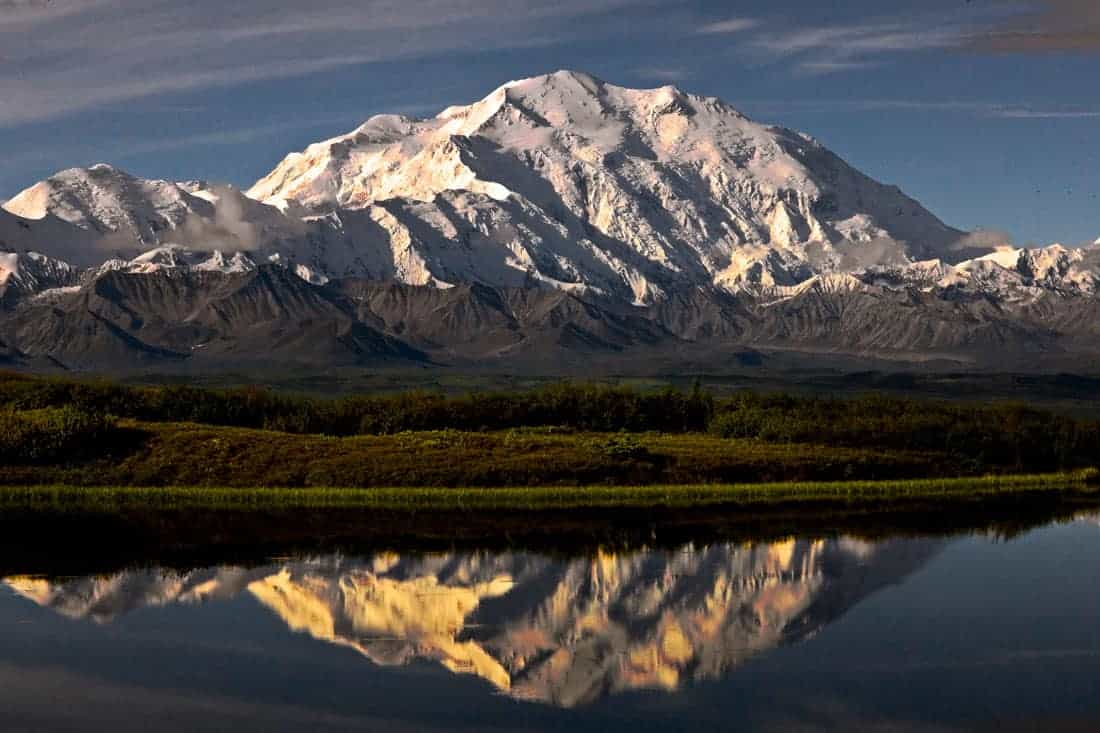 A view of Denali from Wonder Lake. Photo: NPS, public domain.