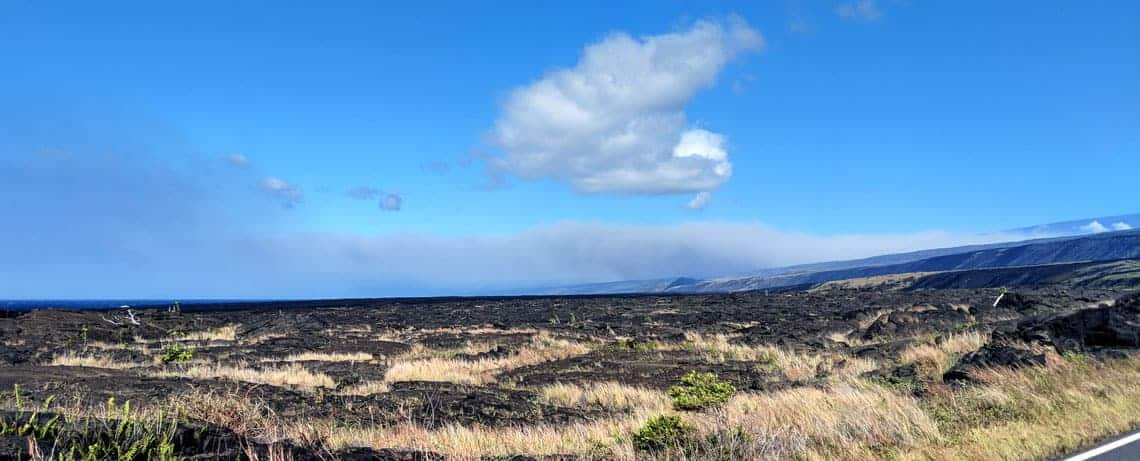 A view of the atmosphere from Chain of Craters Road in Hawaii Volcanoes National Park in Hawaii.  Photo: USGS, public domain.