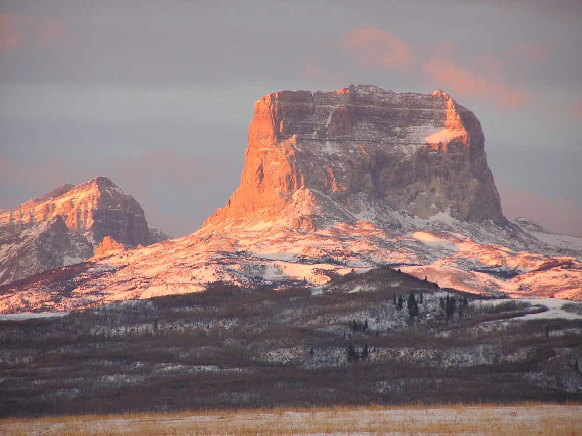 Chief mountain in Montana. Photo: USGS, public domain.