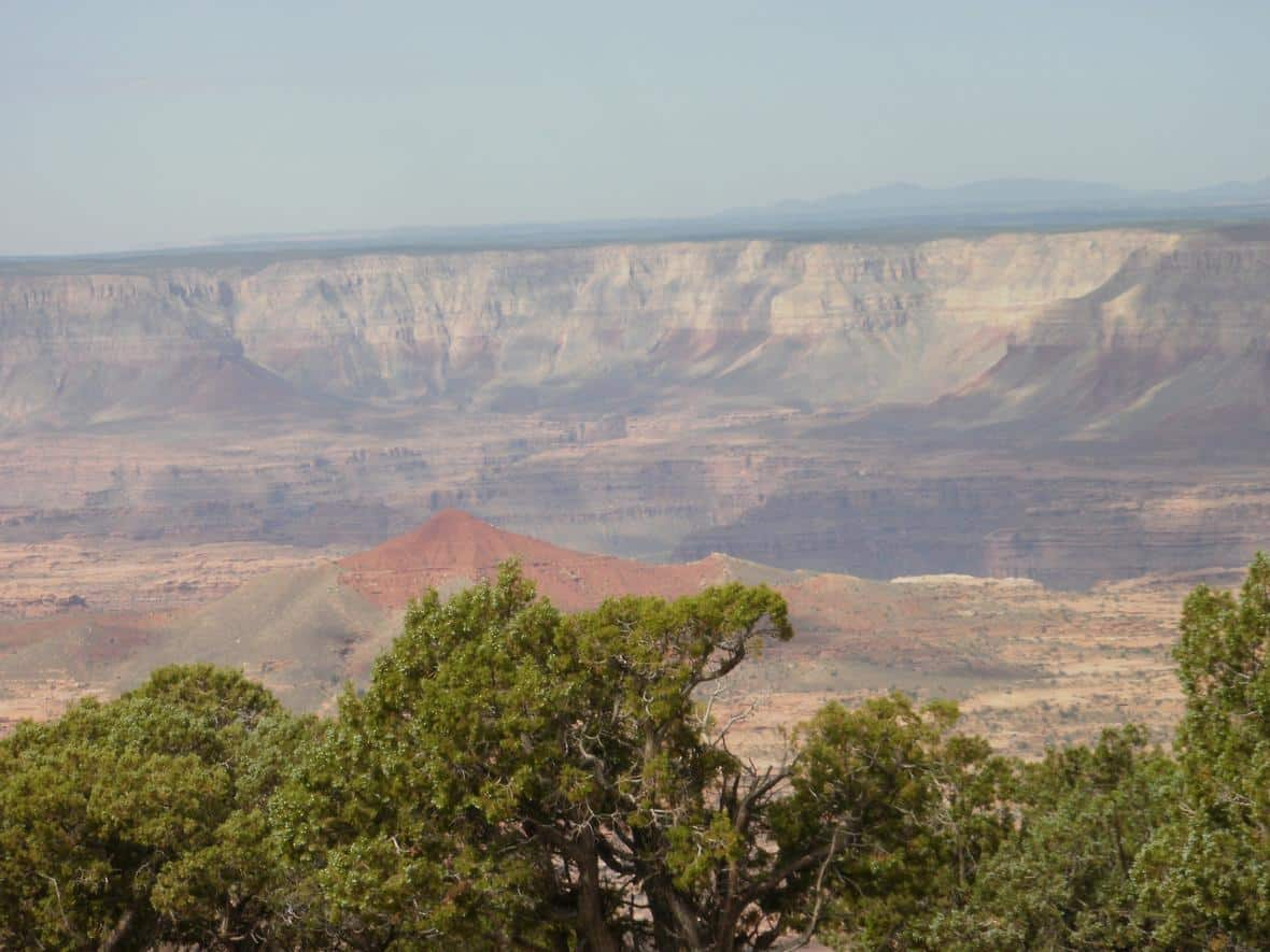 View from Sowats Point on the Kaibab Plateau, looking southwest towards Kanab Creek.
