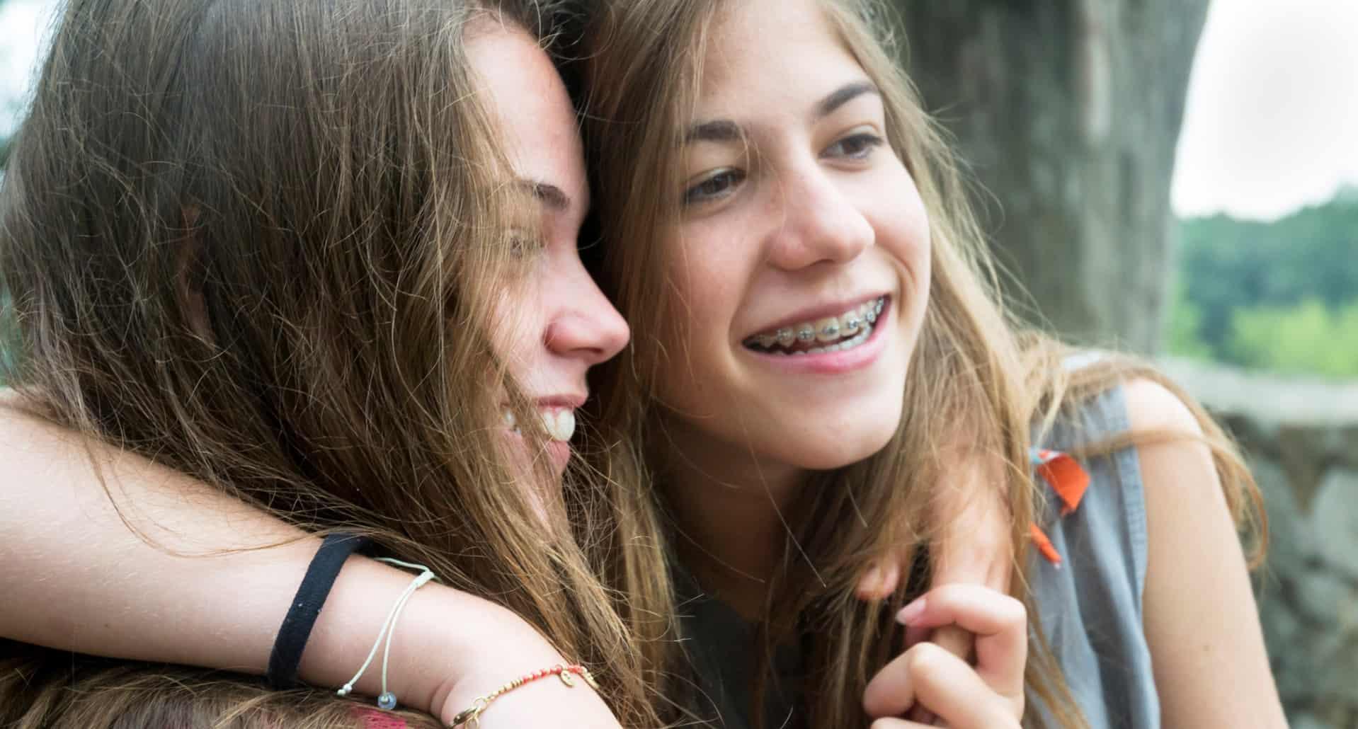 two teen girls