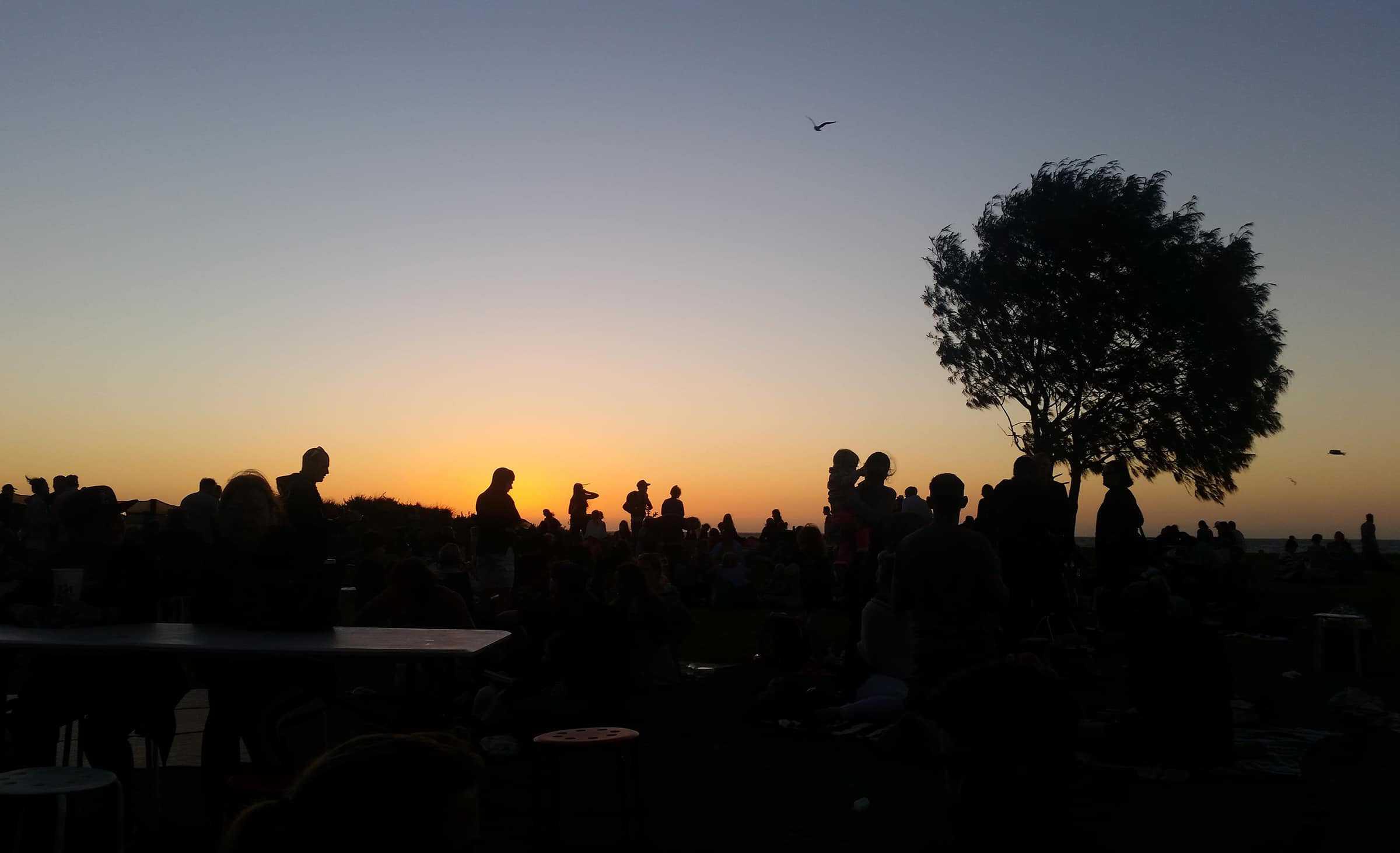 Late uurtjes van het vrijdagavond festival in Freo