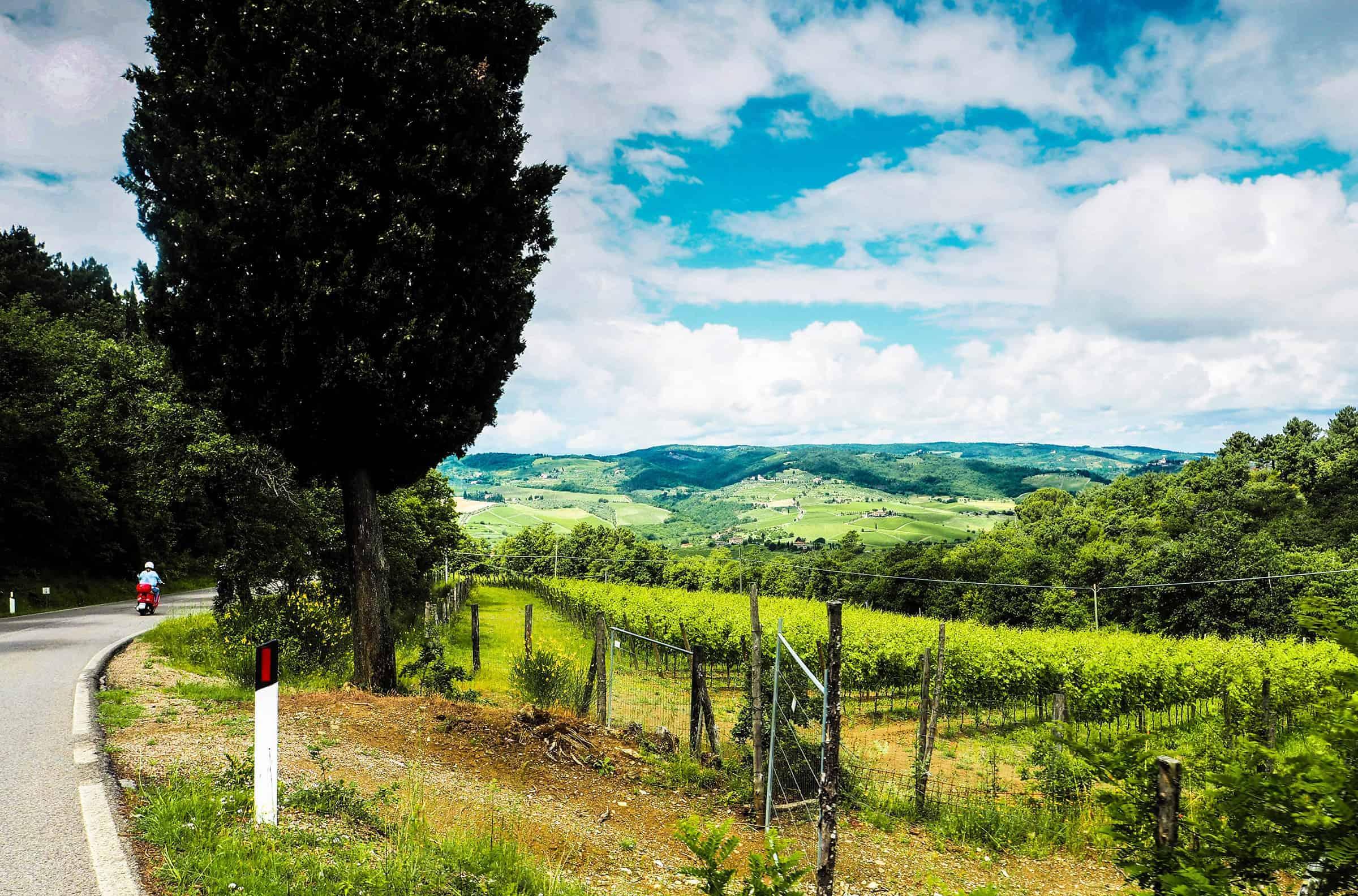 Toscane op de Vespa