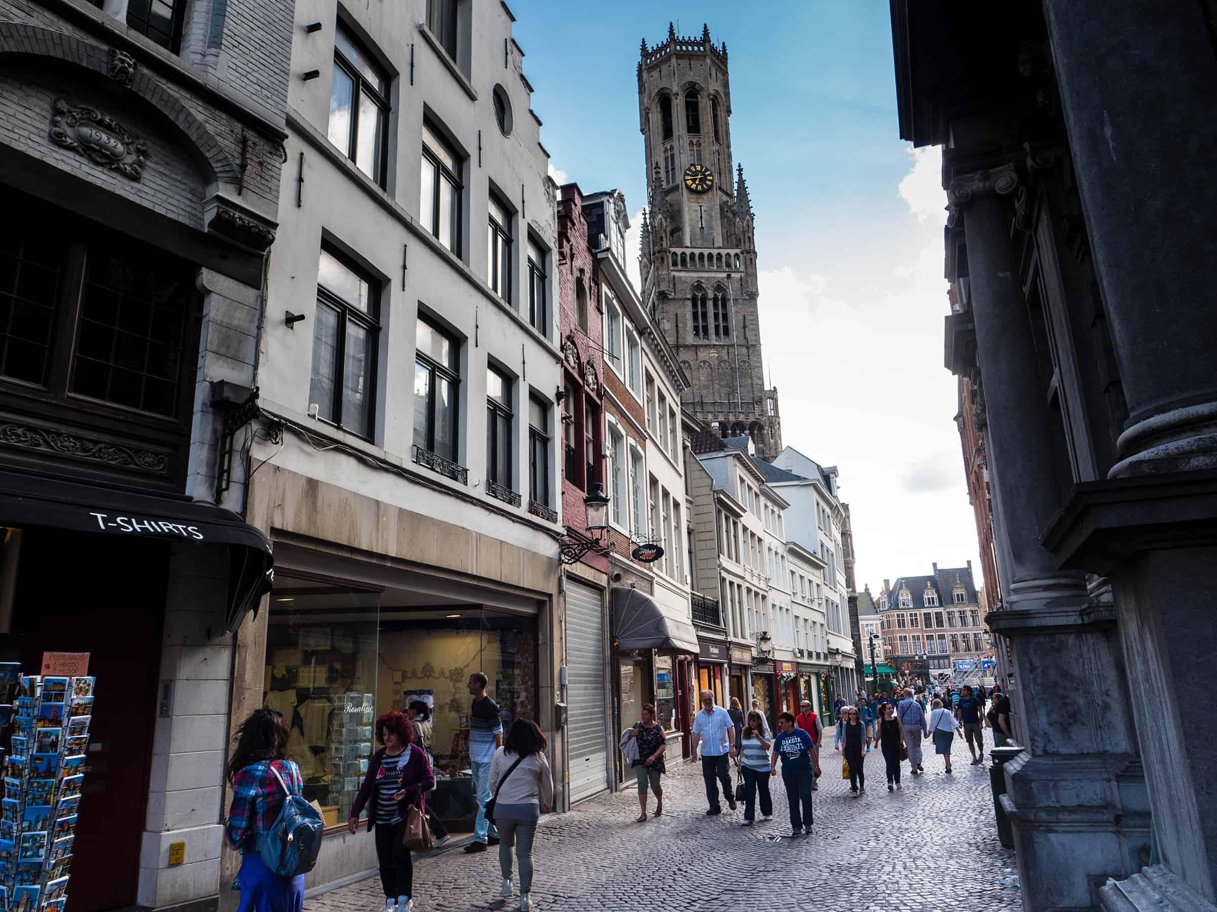 Gezellige winkelstraatjes in Brugge