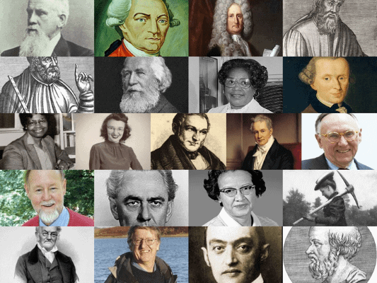 Collage of geography pioneers