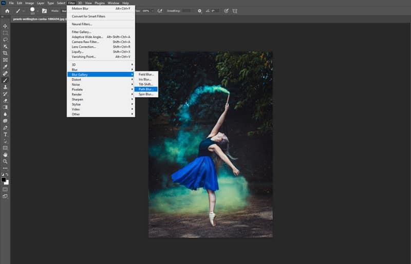 photoshop path blur