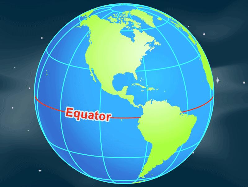 L'équateur est la ligne de zéro degré de latitude autour du milieu de la Terre. Image : NASA, domaine public.