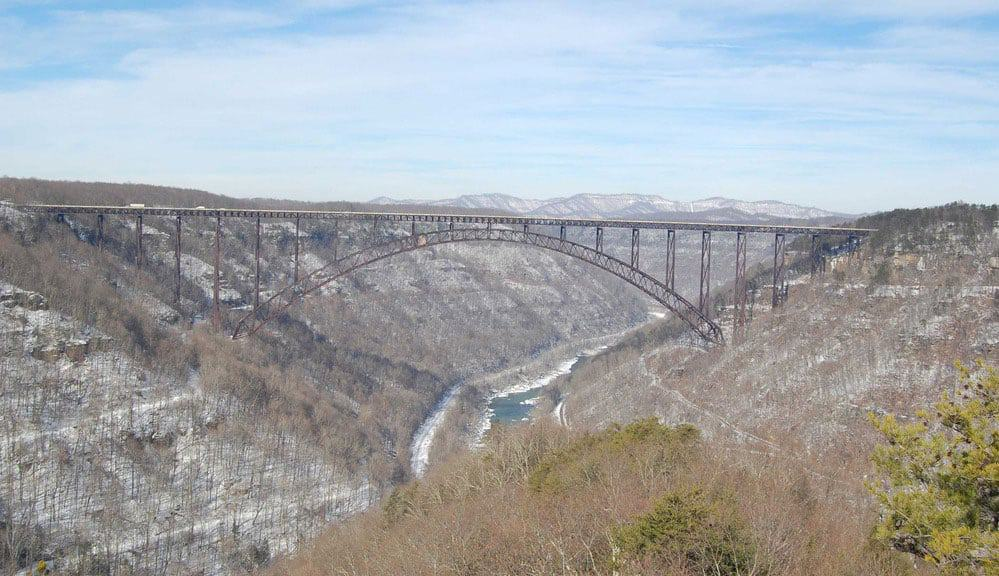 Picture of the New River Gorge Bridge, West Virginia.