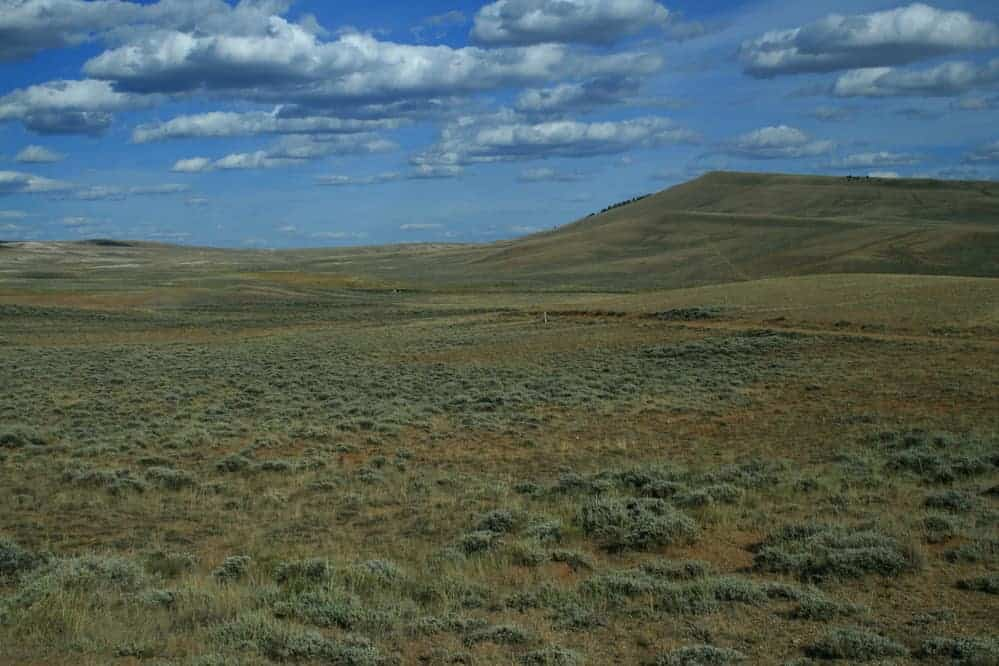 This broad open saddle called South Pass in Wyoming located on the continental divide is one of the high points along the Oregon, California, and Mormon Pioneer national historic trails. Photo: NPS, public domain.