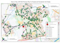 Using GIS to Create a Vaccination Route Modeling Tool