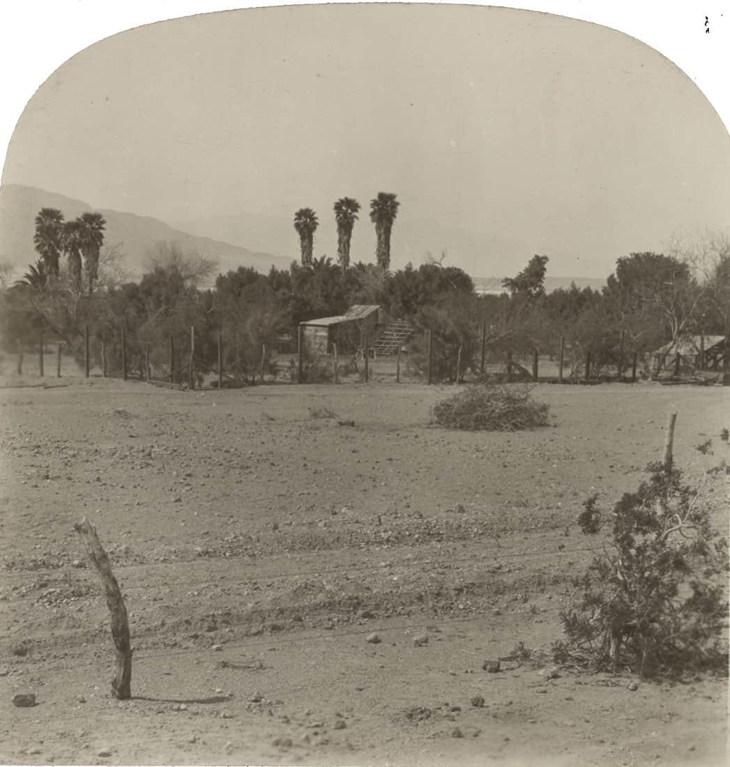 Furnace Creek Ranch, Death Valley, California.  Photo: Keystone View Company, c. July 16, 1928 via Library of Congress.