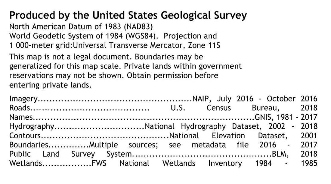 Metadata on a USGS Topo map.