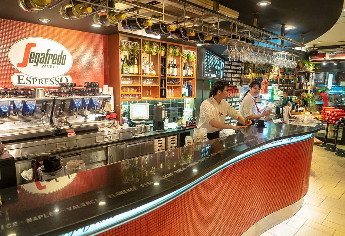 Moderne koffietent in Shibuya