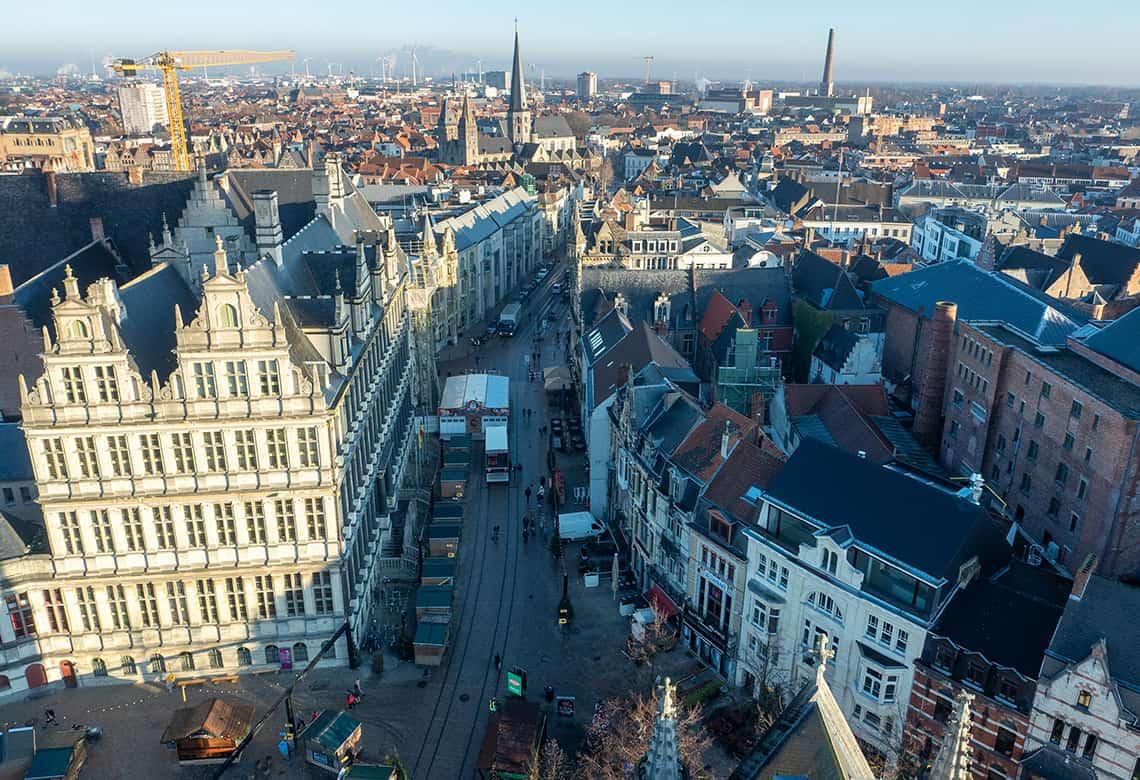 Uitzicht over Gent
