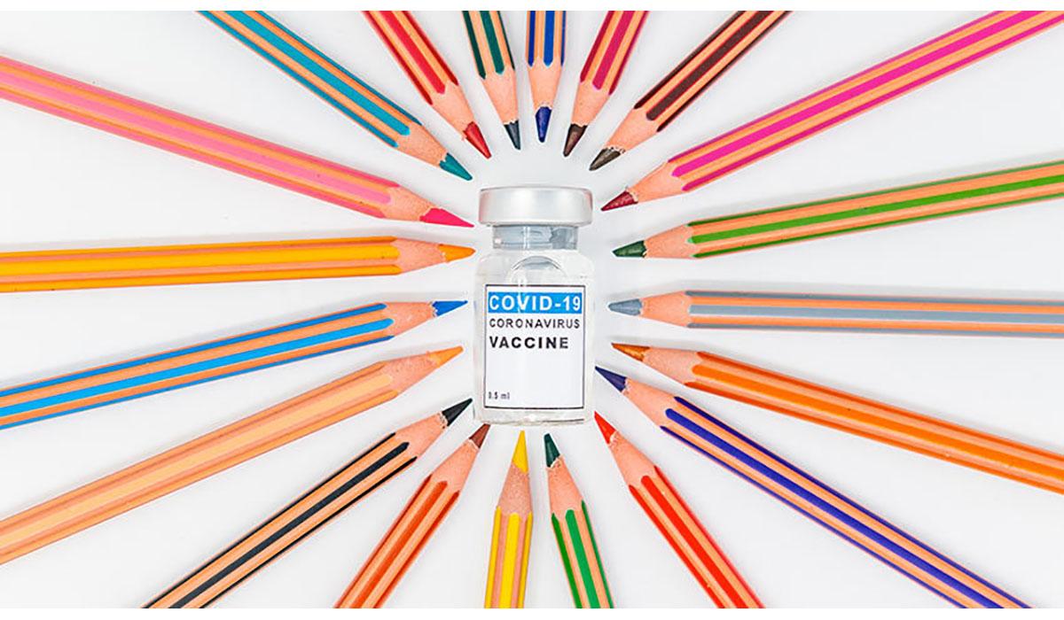 Colored Pencils Coronavirus Vaccine Vial Gatewayextension