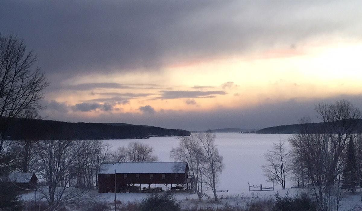 Snow at Camp Michigania