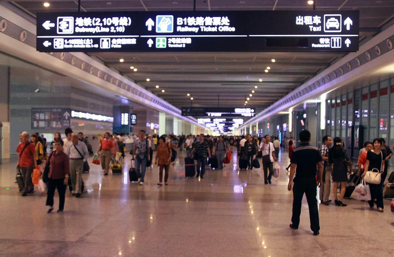 Treinstation van Shanghai