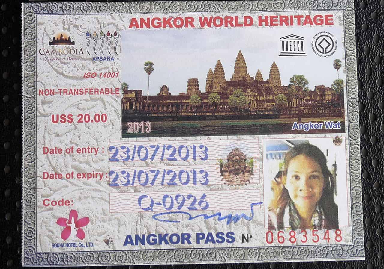 Angkor Pass voor 1 dag
