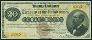 1882 $20 Gold Certificate Brown Seal