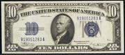 1934B $10 Silver Certificates Blue Seal
