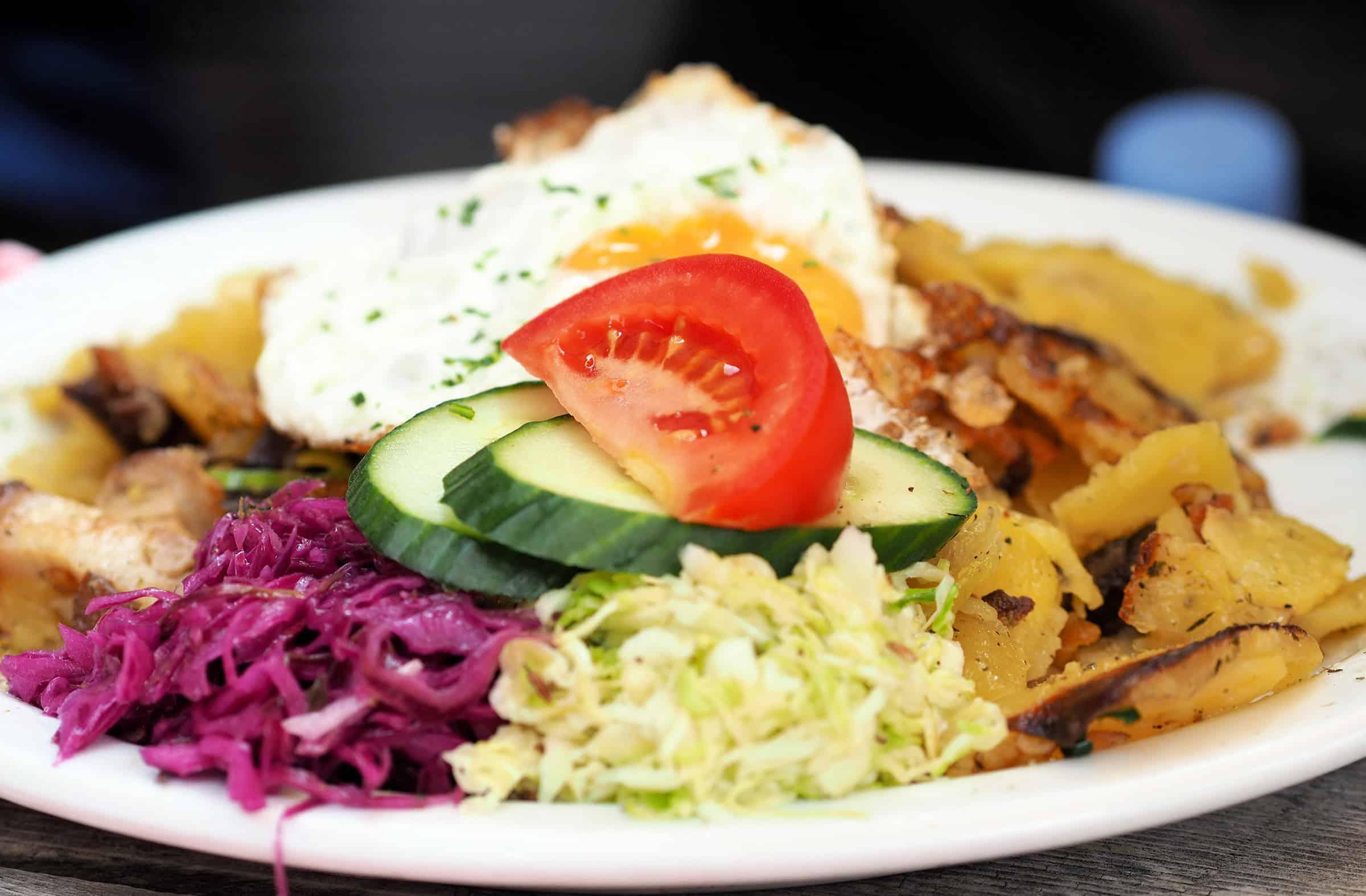Heerlijk eten in de Franz Senn Hutte: Aardappelschotel