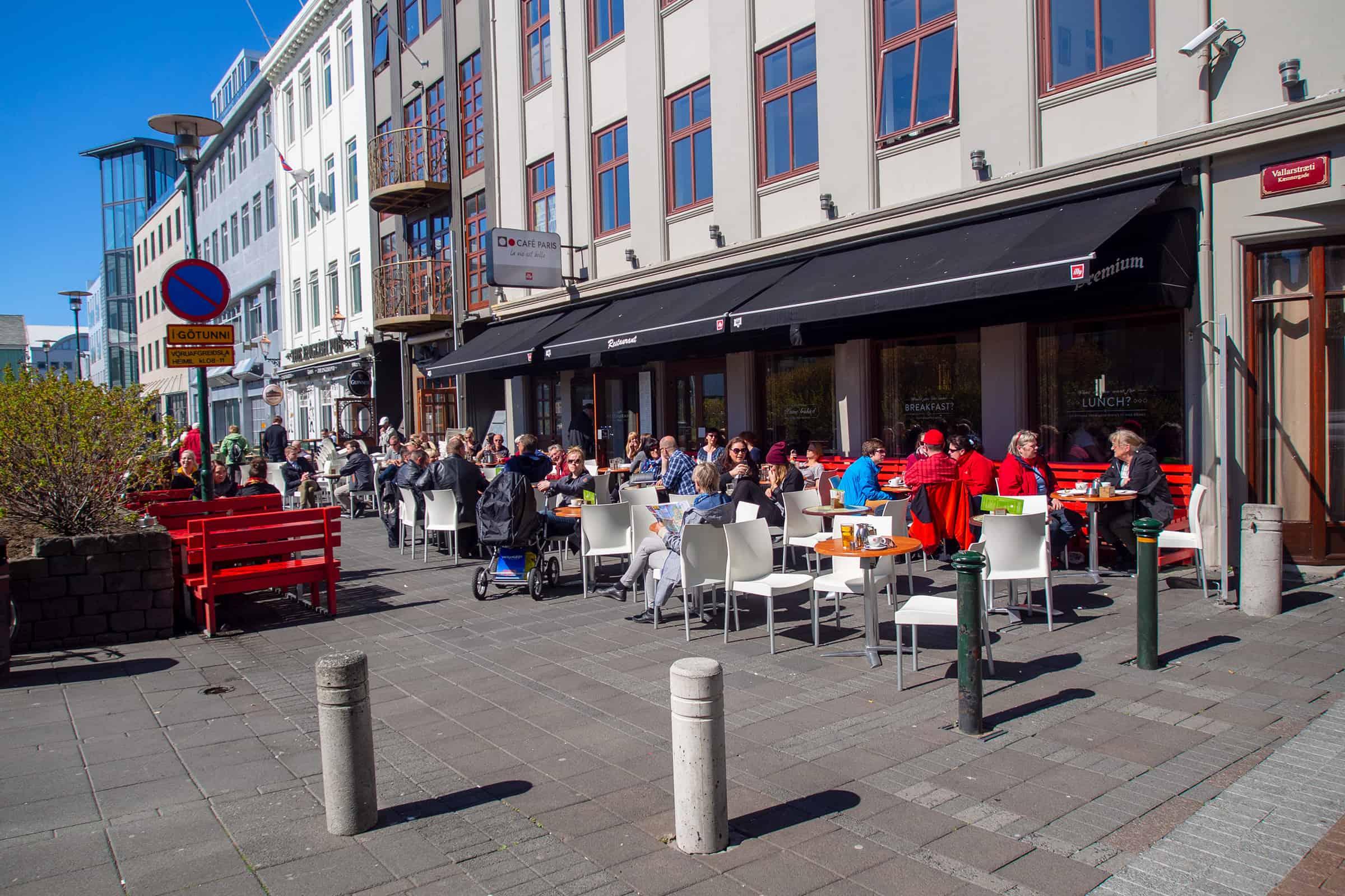 Terrasjes in Reykjavik