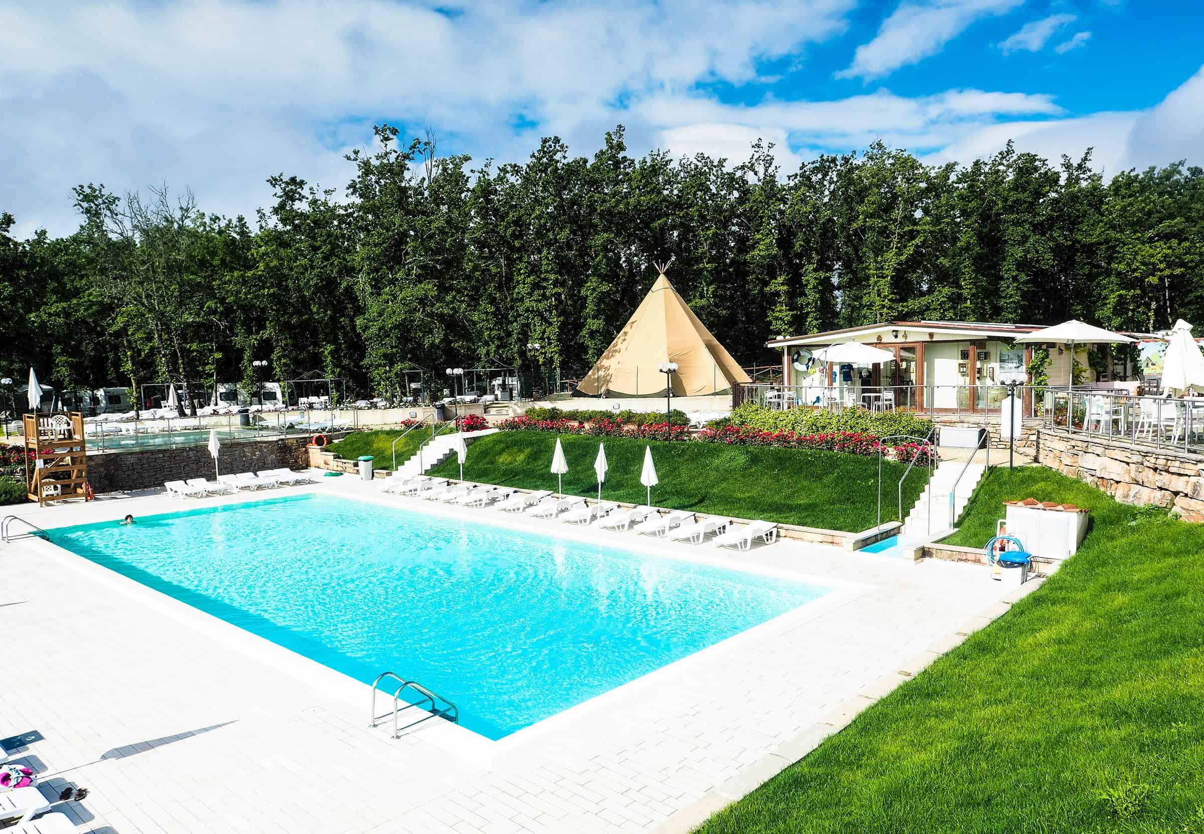 Zwembaden op camping Orlando