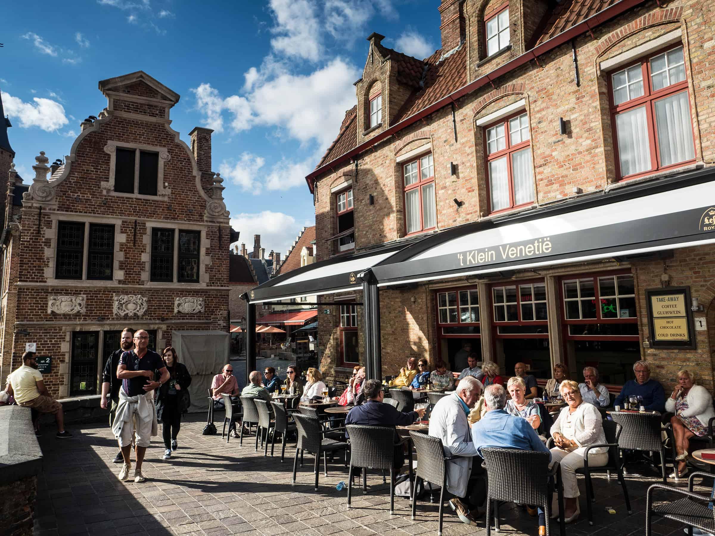 Gezellige terrasjes van Brugge