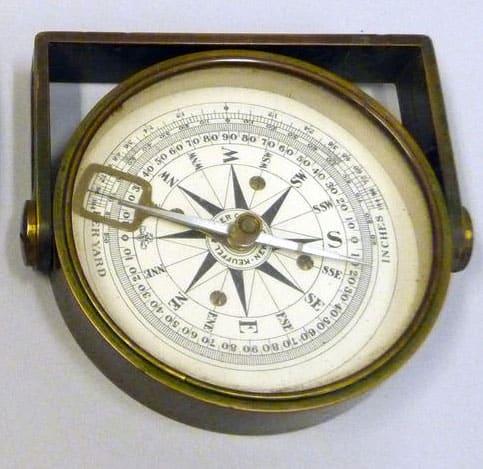 Surveying Compass. Photo: Justin Bongard, U.S. Geological Survey. Public domain