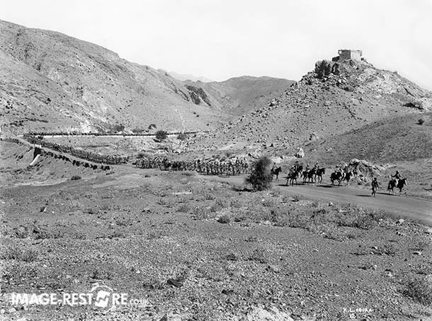 Column of Troops returning From Khaisora Operations To Razmak