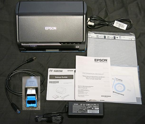 Epson FastPhoto FF-680W Box contents