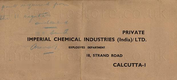 Old envelope ready printed for posting back negatives