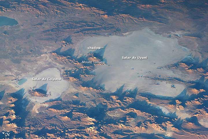Salar de Uyuni in Bolivia. Image: NASA.