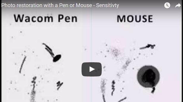 Photo restoration and using pen sensitivity v mouse