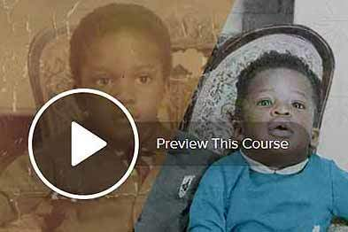 Photo restoration course fixing stained colour and damage