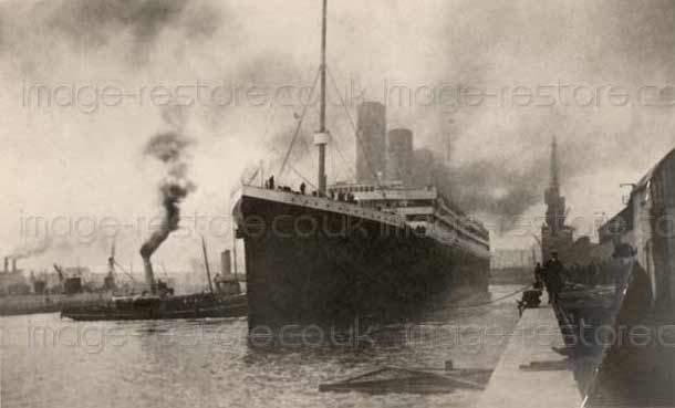 Were Titanic photos 1912 Southampton retouched by editors?