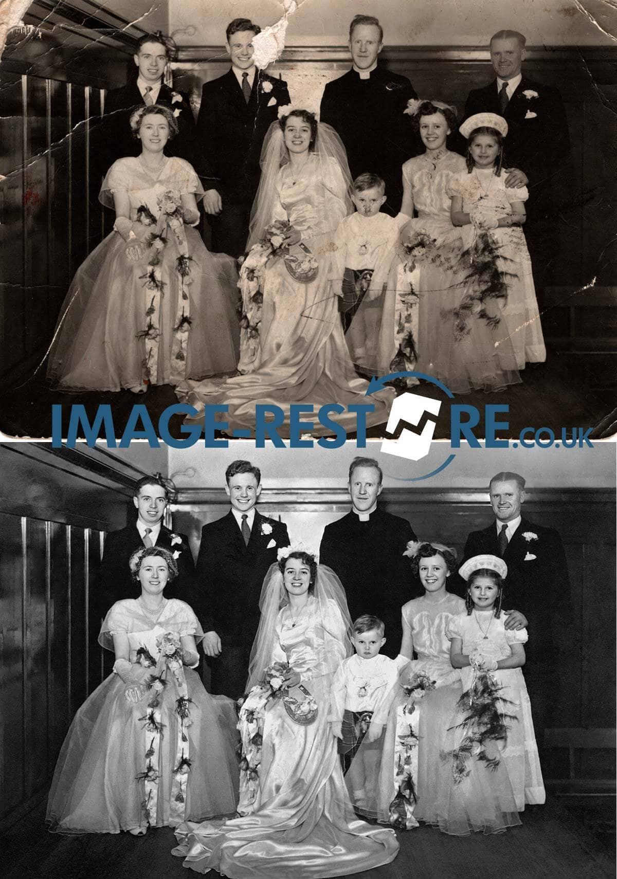 Harry Haddock Wedding 1952 photo restoration