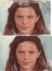 Restoring hair in old photos
