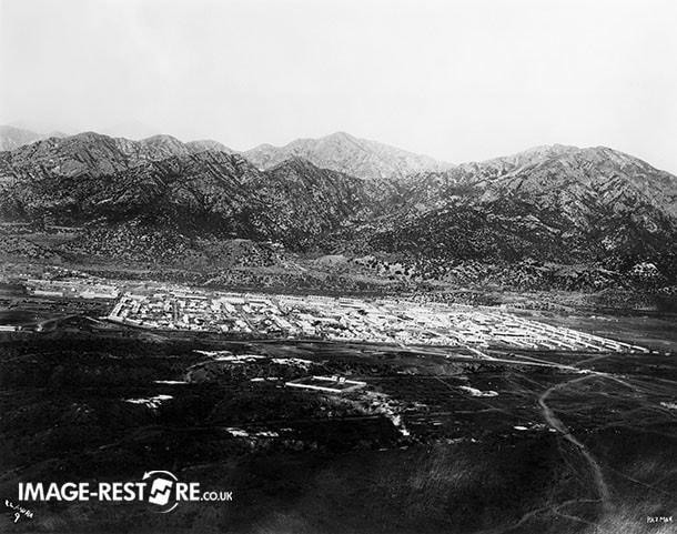 Razmak camp, view from adjacent mountain