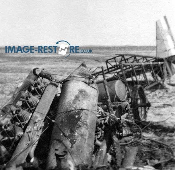 Royal Flying Corps Egypt engine of crashed aircraft