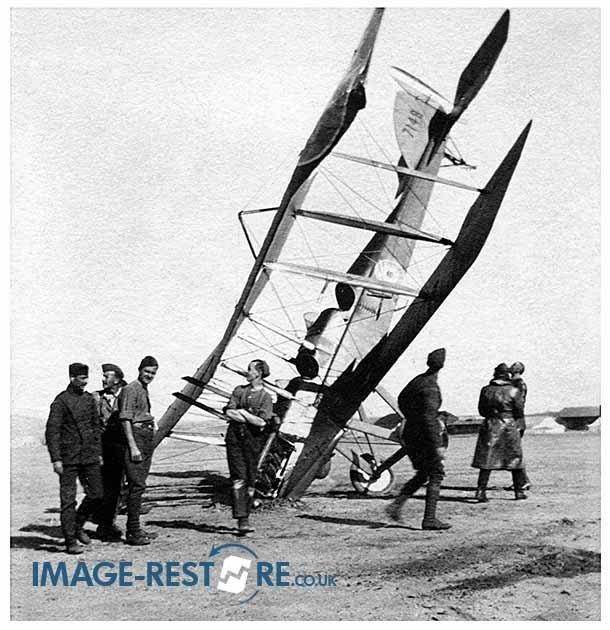 RFC Egypt training school crashed aircraft 714B