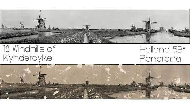 Windmills of Holland photo restoration
