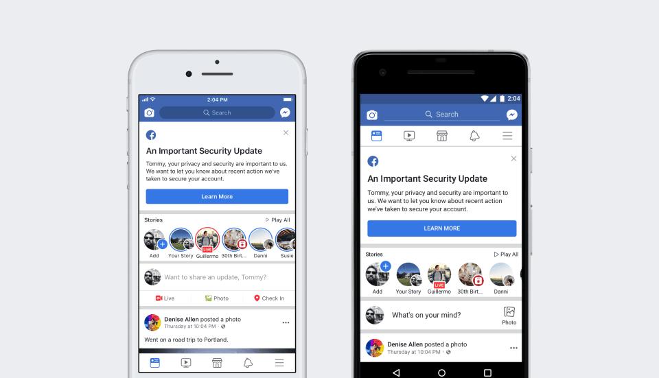Facebook data breach notification making user eligible for Facebook data breach lawsuit