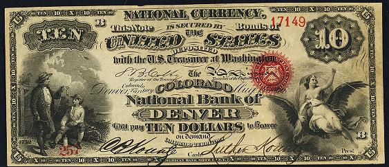 1863 Ten Dollar Original Series National Bank Note