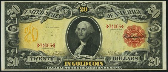 1905 Twenty Dollar Gold Certificate
