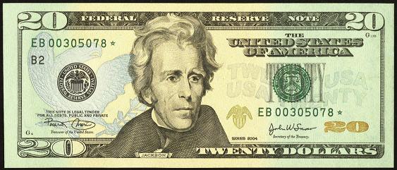 2009 Twenty Dollar Federal Reserve Note
