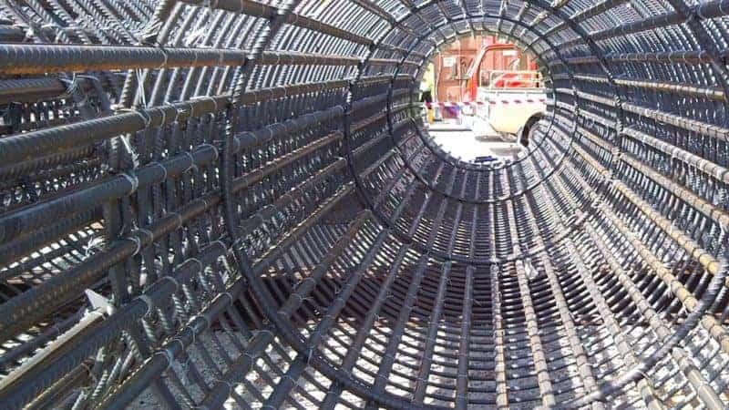 bore pile cage